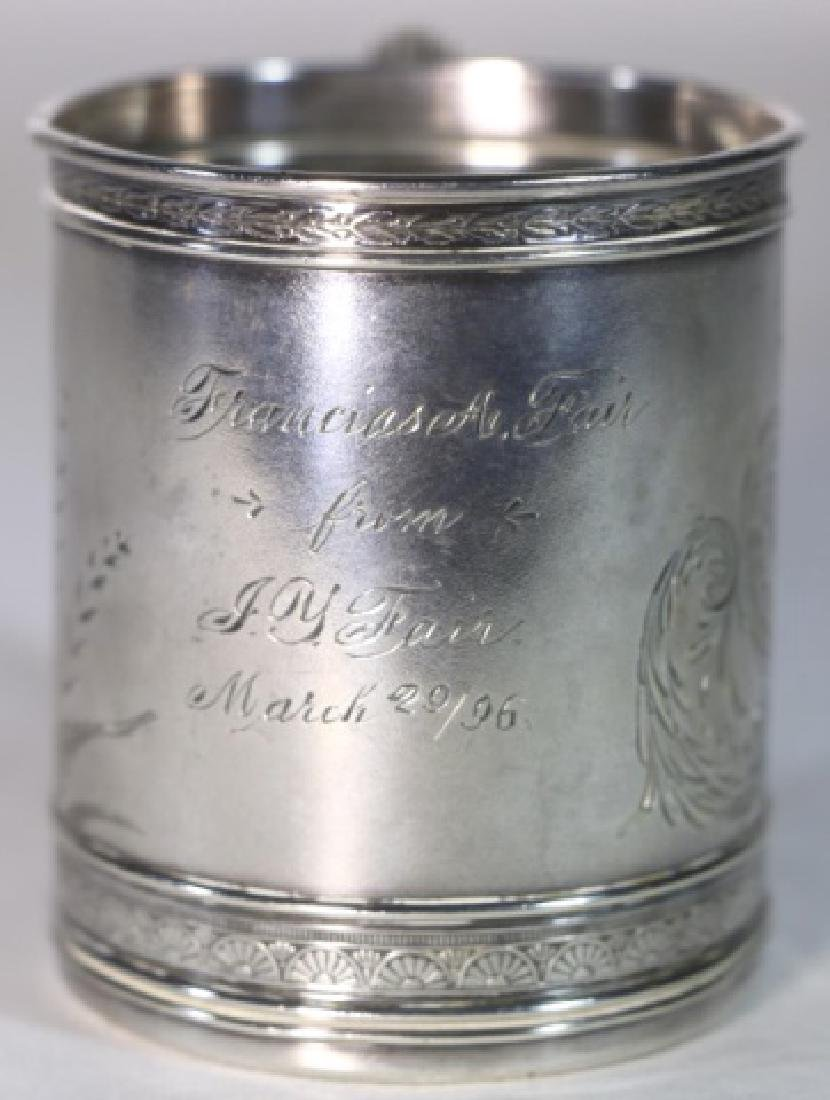 STERLING SILVER 1896  ANTIQUE GORHAM LIBATION CUP - 3