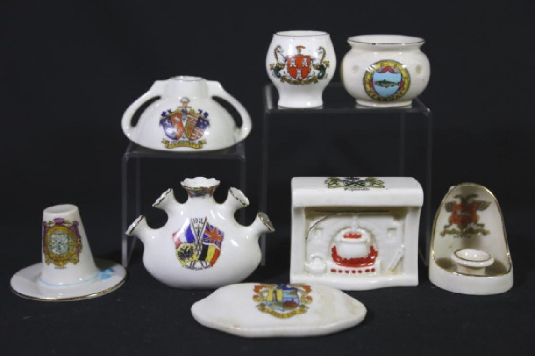 ENGLISH ANTIQUE CREST MINIATURES GROUPING