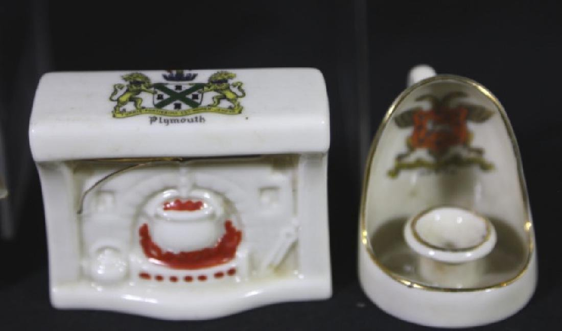 ENGLISH ANTIQUE CREST MINIATURES GROUPING - 3