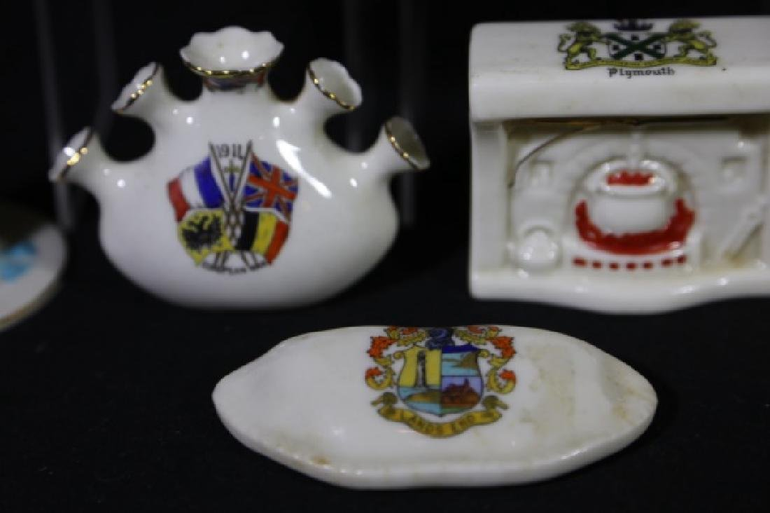 ENGLISH ANTIQUE CREST MINIATURES GROUPING - 4