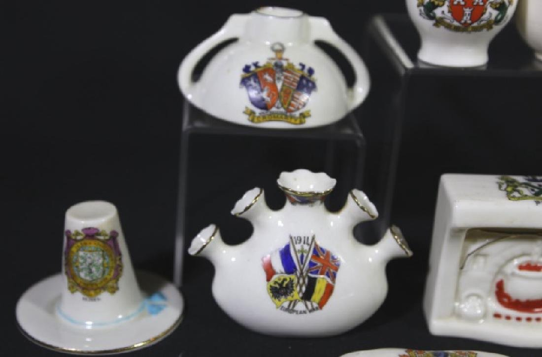 ENGLISH ANTIQUE CREST MINIATURES GROUPING - 5
