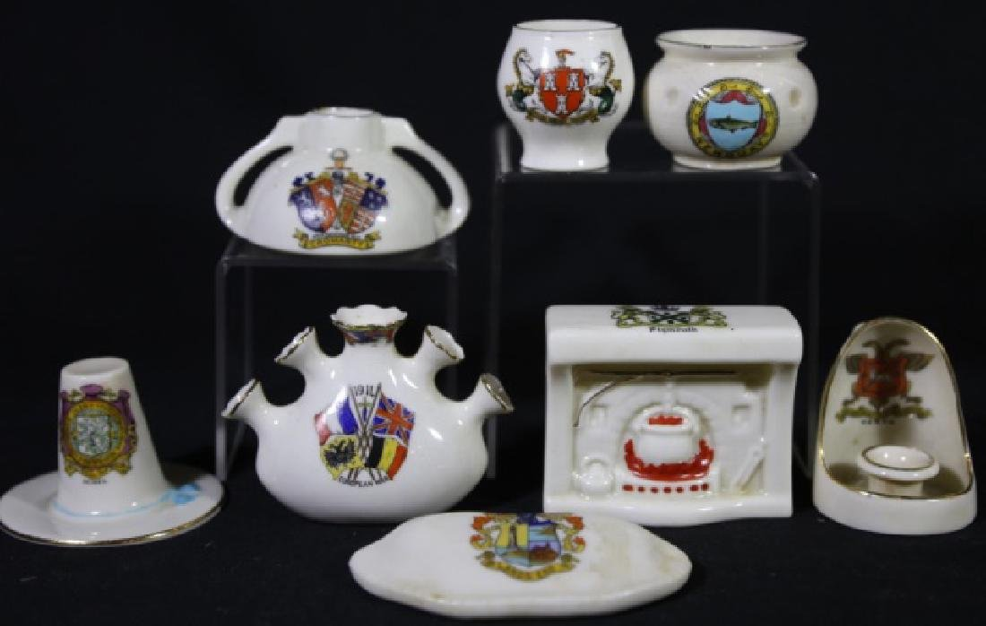 ENGLISH ANTIQUE CREST MINIATURES GROUPING - 6