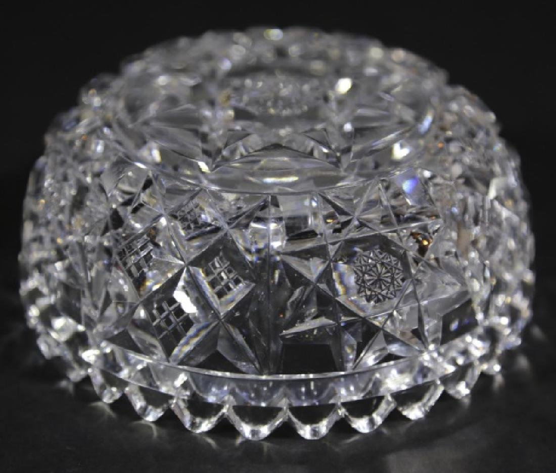 HAWKES BRILLIANT PERIOD CUT GLASS BERRY  BOWL - 4