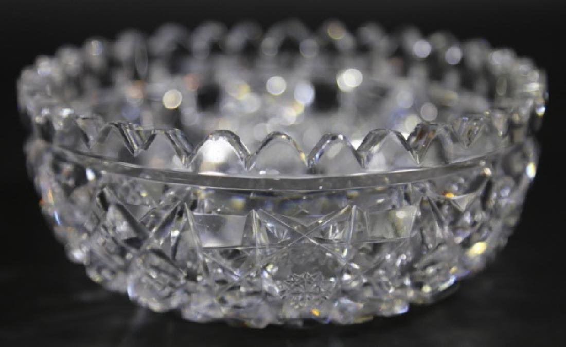 HAWKES BRILLIANT PERIOD CUT GLASS BERRY  BOWL - 6