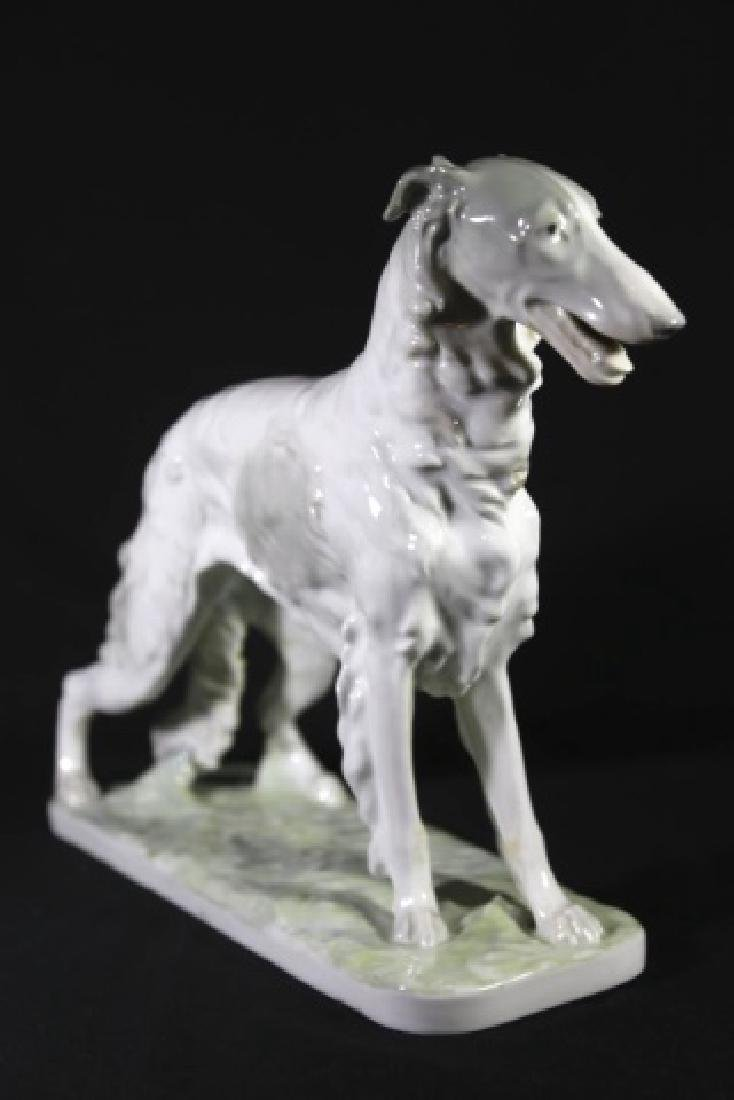 W.P.M. PORCELAIN RUSSIAN WOLFHOUND FIGURINE - 10