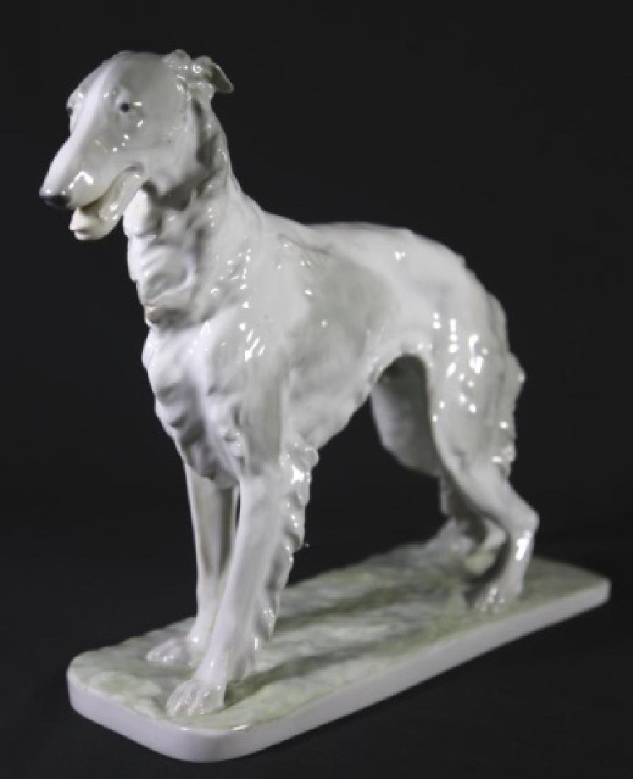 W.P.M. PORCELAIN RUSSIAN WOLFHOUND FIGURINE