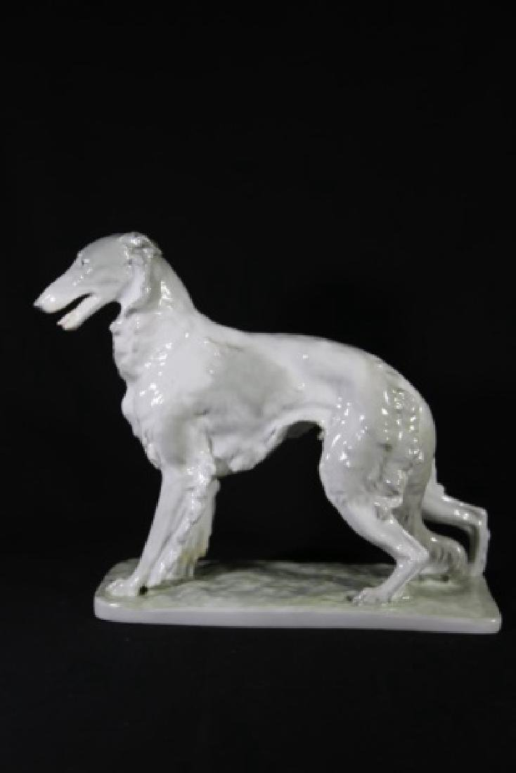 W.P.M. PORCELAIN RUSSIAN WOLFHOUND FIGURINE - 8