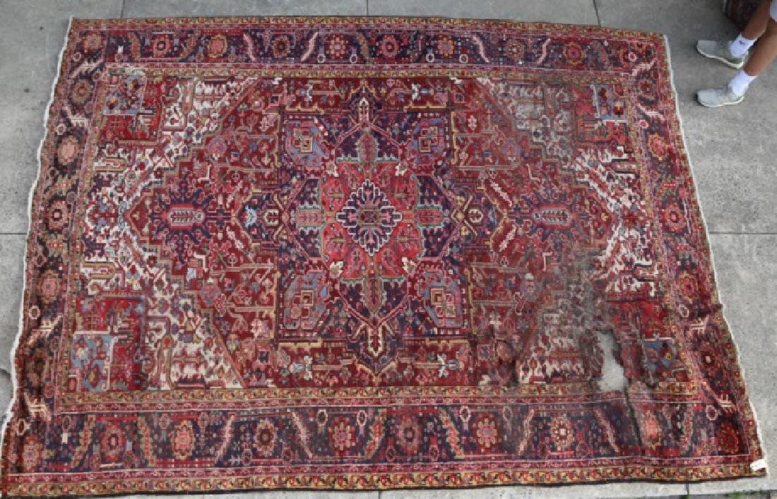 PERSIAN SAROUK  HAND WOVEN ROOM SIZE RUG - 8