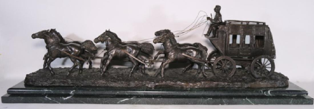 CHARLES M. RUSSELL (AMERICAN 1864-1926) BRONZE