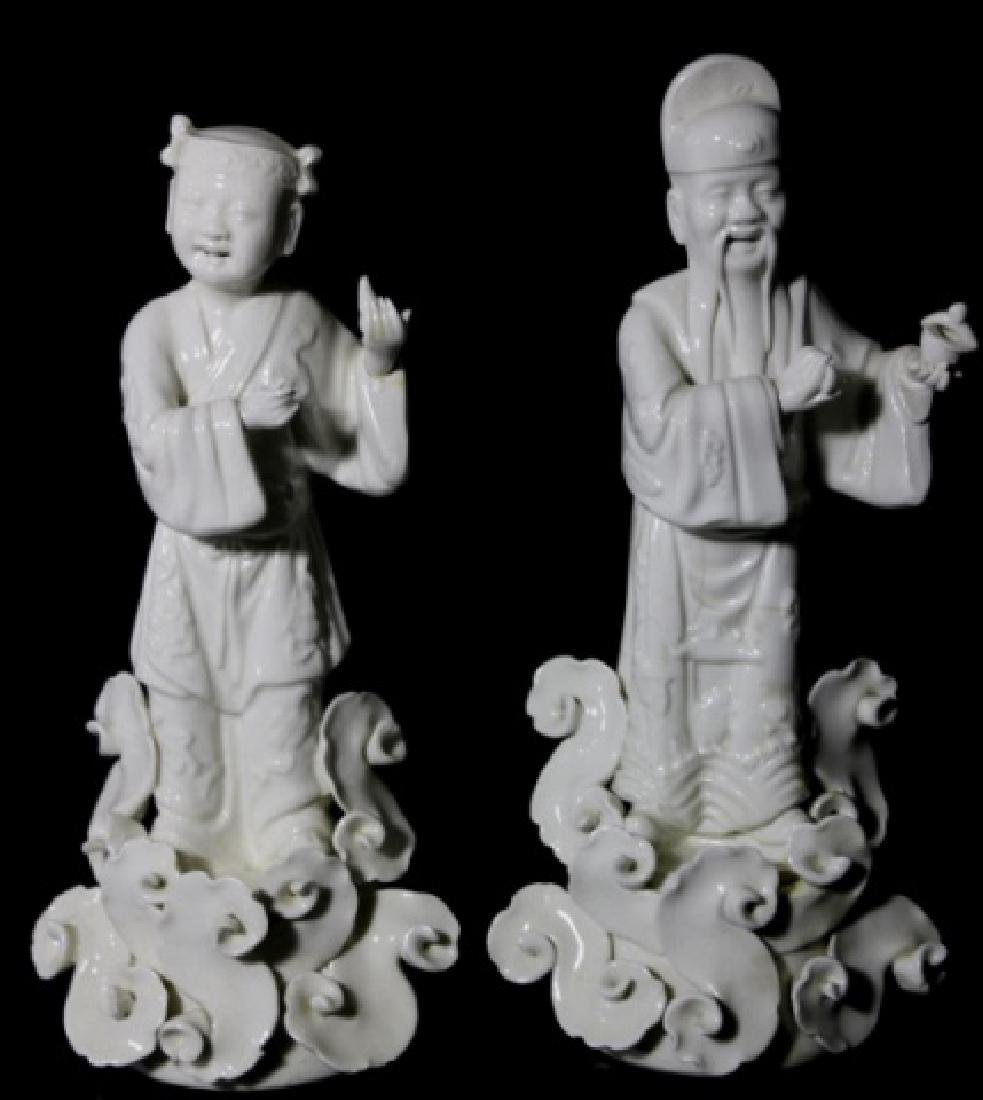 CHINESE ANTIQUE BLANC DE CHINE IMMORTALS