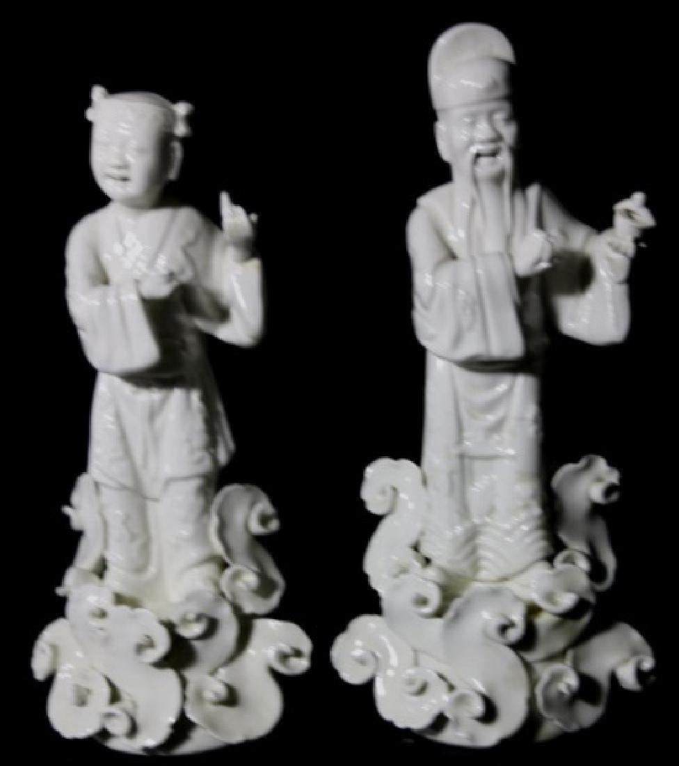CHINESE ANTIQUE BLANC DE CHINE IMMORTALS - 5