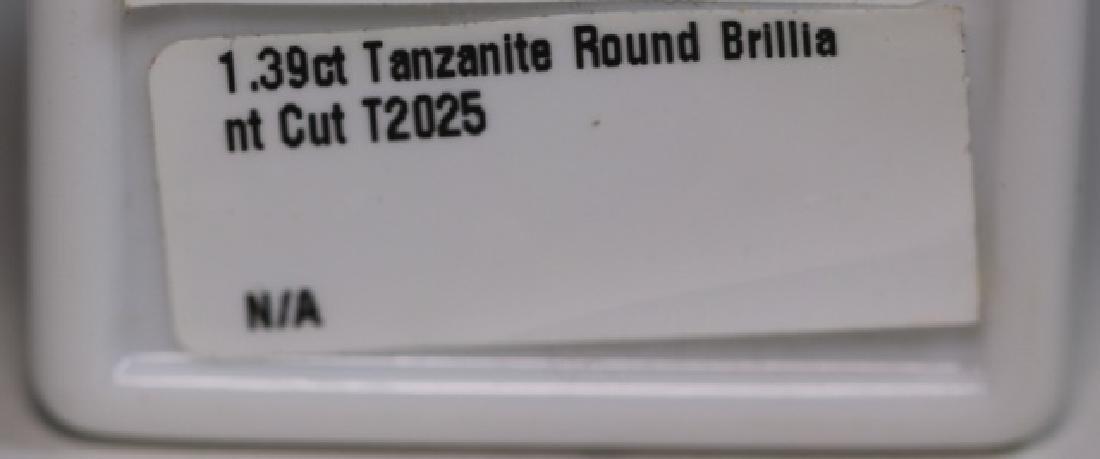 TANZANITE 1.39 CT ROUND BRILLIANT CUT LOOSE STONE - 2