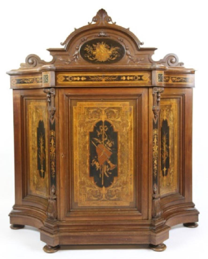 HERTER BROTHERS AMERICAN ANTIQUE INLAID BUFFET - 10