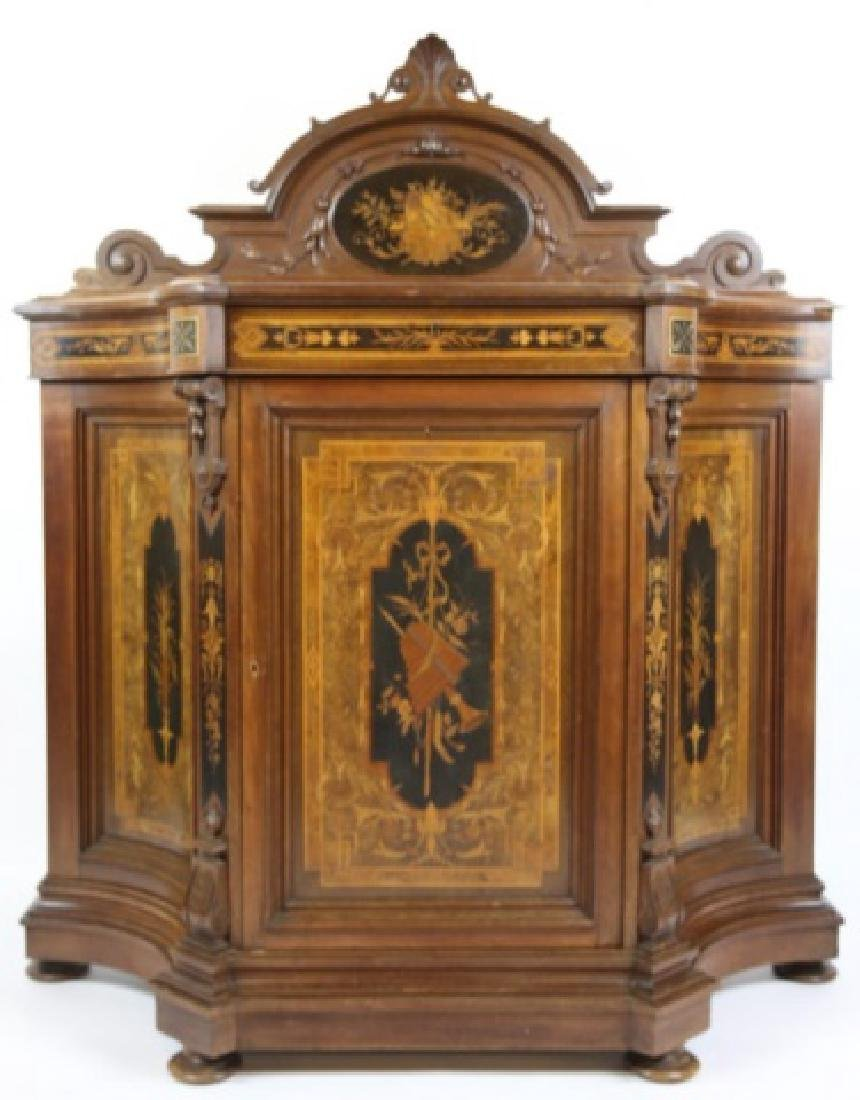 HERTER BROTHERS AMERICAN ANTIQUE INLAID BUFFET