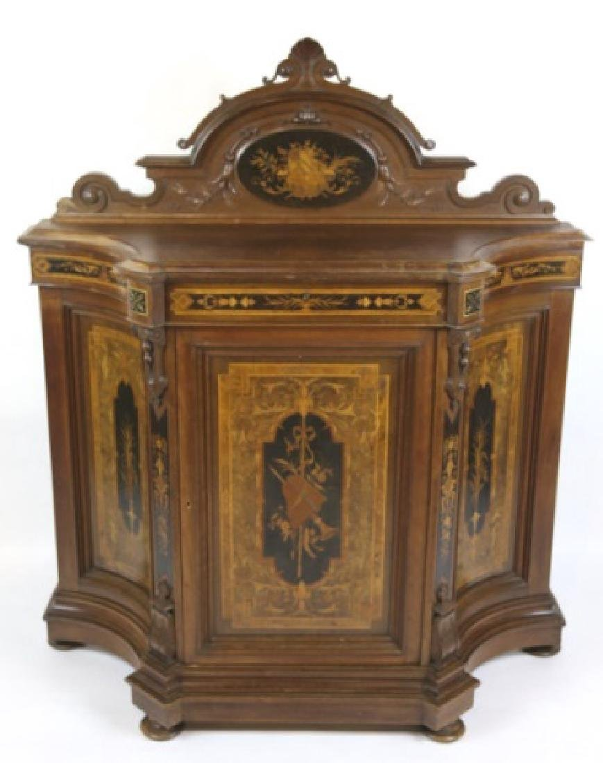 HERTER BROTHERS AMERICAN ANTIQUE INLAID BUFFET - 2
