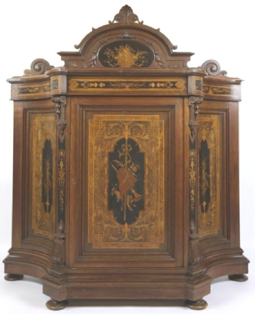 HERTER BROTHERS AMERICAN ANTIQUE INLAID BUFFET - 5