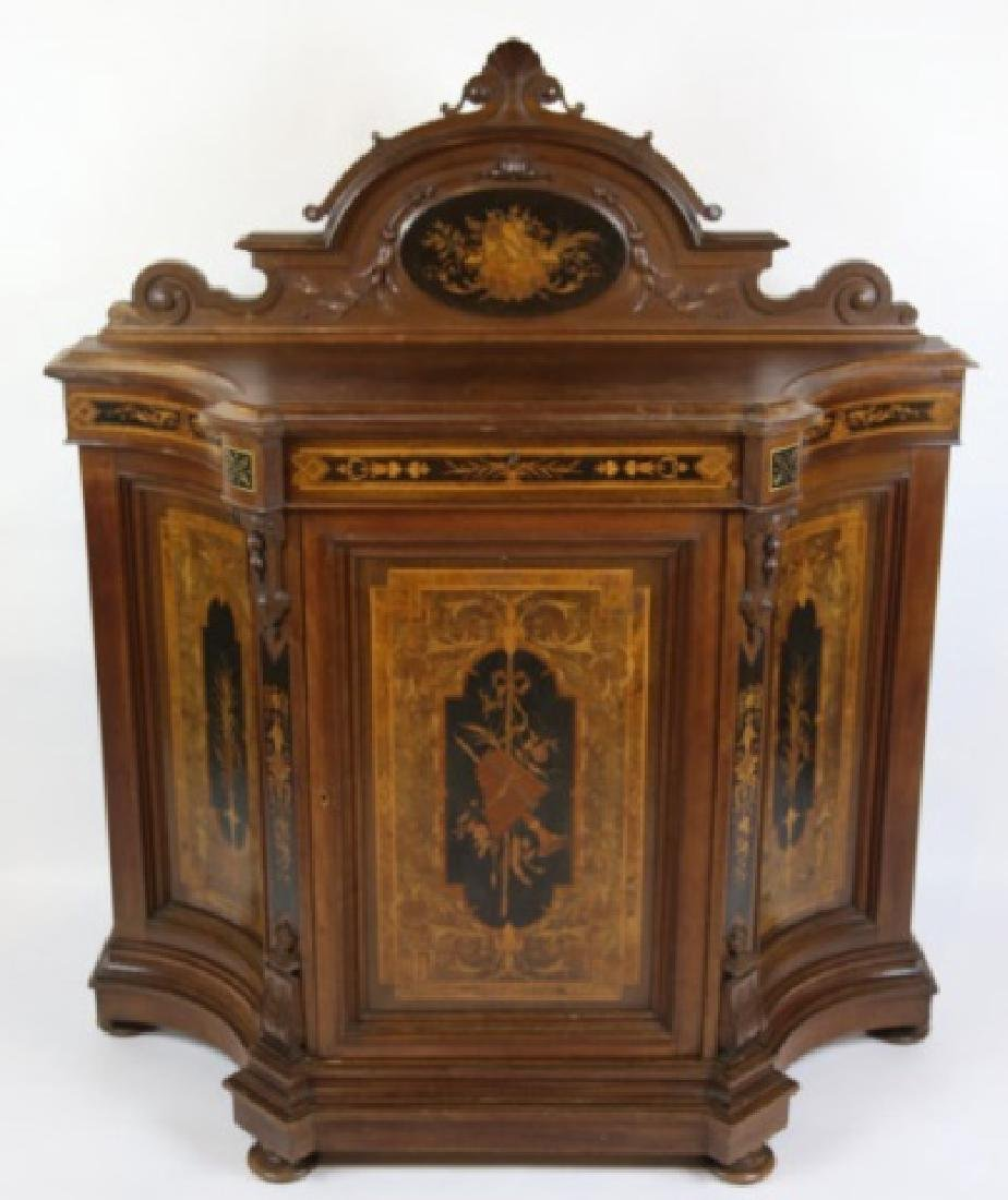 HERTER BROTHERS AMERICAN ANTIQUE INLAID BUFFET - 8