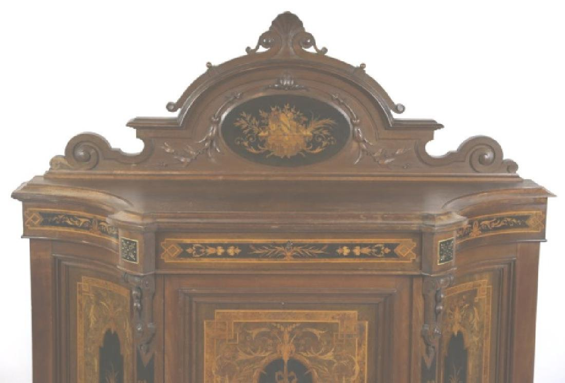 HERTER BROTHERS AMERICAN ANTIQUE INLAID BUFFET - 9