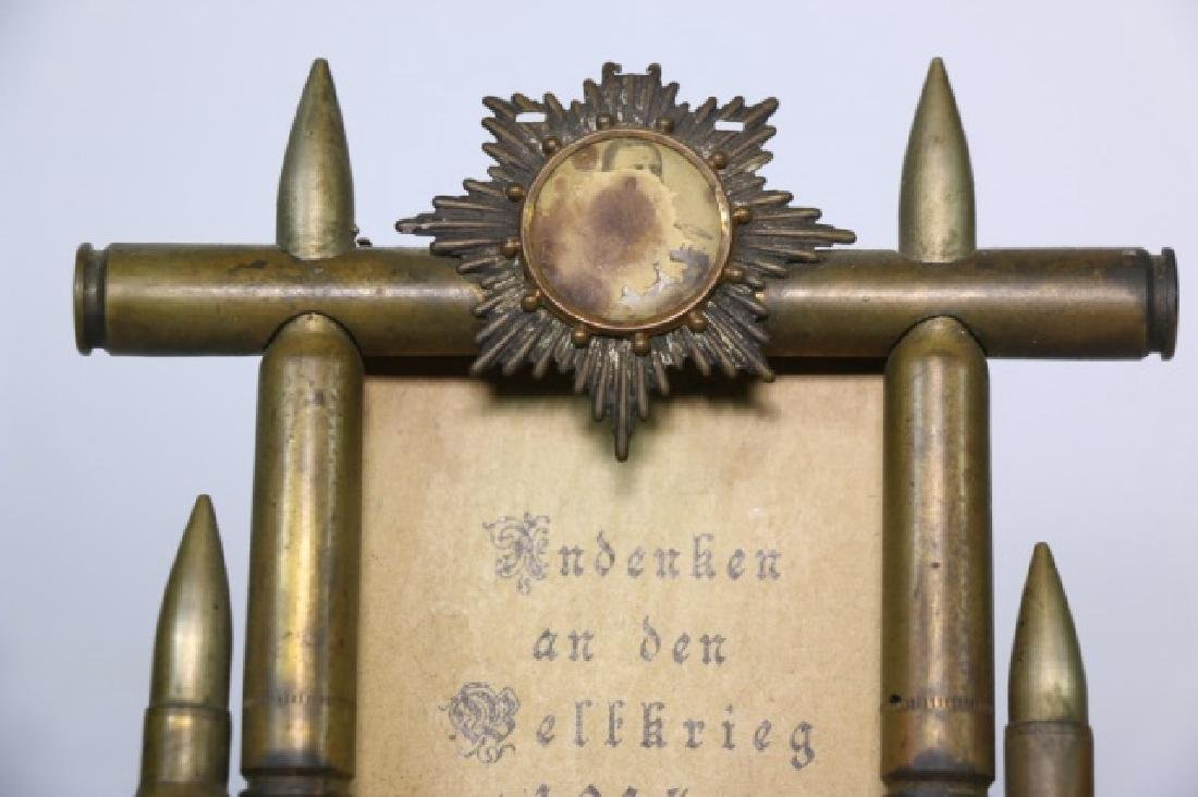 WWI TRENCH ART ANTIQUE PICTURE FRAME - 3