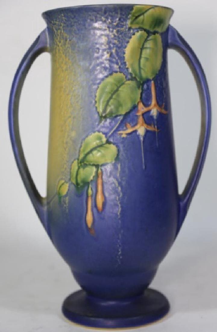 """ROSEVILLE  TWIN HANDLE POTTERY VASE 903-12"""""""