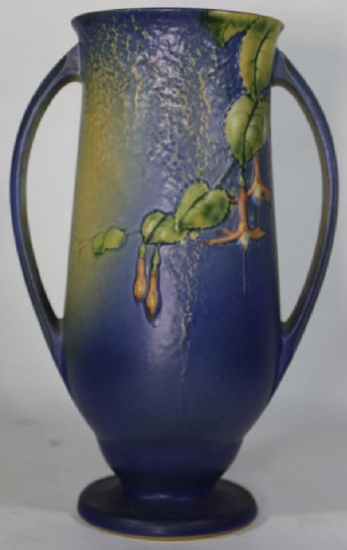 """ROSEVILLE  TWIN HANDLE POTTERY VASE 903-12"""" - 2"""