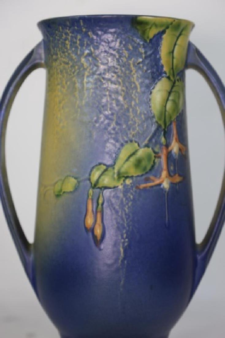 """ROSEVILLE  TWIN HANDLE POTTERY VASE 903-12"""" - 3"""