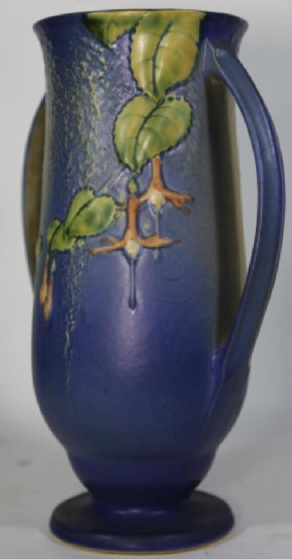 """ROSEVILLE  TWIN HANDLE POTTERY VASE 903-12"""" - 4"""
