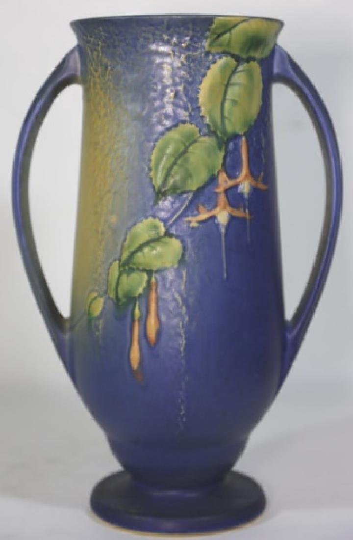 """ROSEVILLE  TWIN HANDLE POTTERY VASE 903-12"""" - 7"""