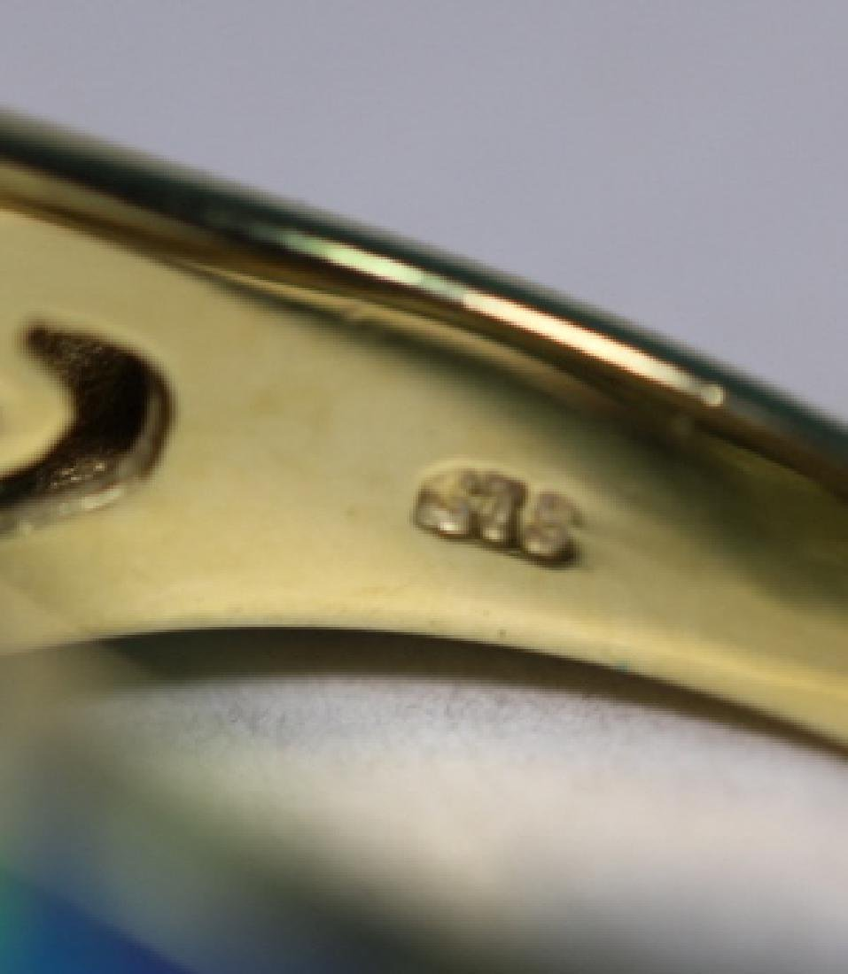 14KYG - DIAMOND - OPAL MODERN LADIES  RING - 5