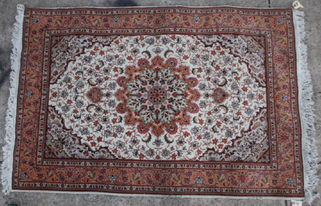 PERSIAN TIGHTLY HAND WOVEN SAROUK AREA CARPET