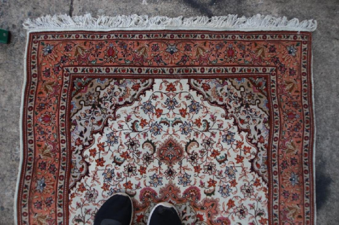 PERSIAN TIGHTLY HAND WOVEN SAROUK AREA CARPET - 3