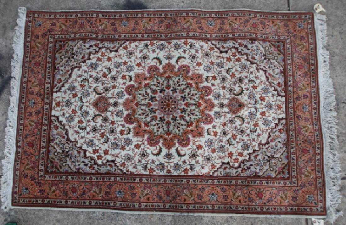 PERSIAN TIGHTLY HAND WOVEN SAROUK AREA CARPET - 5