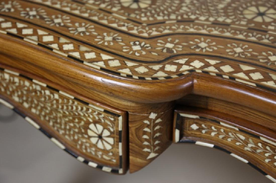 ANGLO INDIAN BONE INLAID HAND CARVED WRITING TABLE - 10