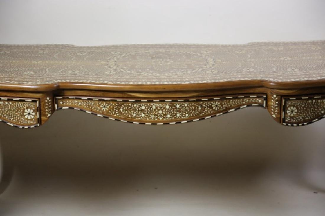 ANGLO INDIAN BONE INLAID HAND CARVED WRITING TABLE - 4