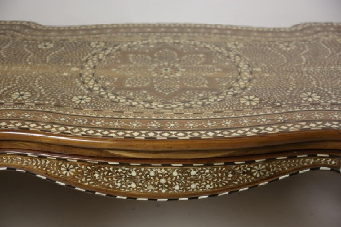 ANGLO INDIAN BONE INLAID HAND CARVED WRITING TABLE - 6