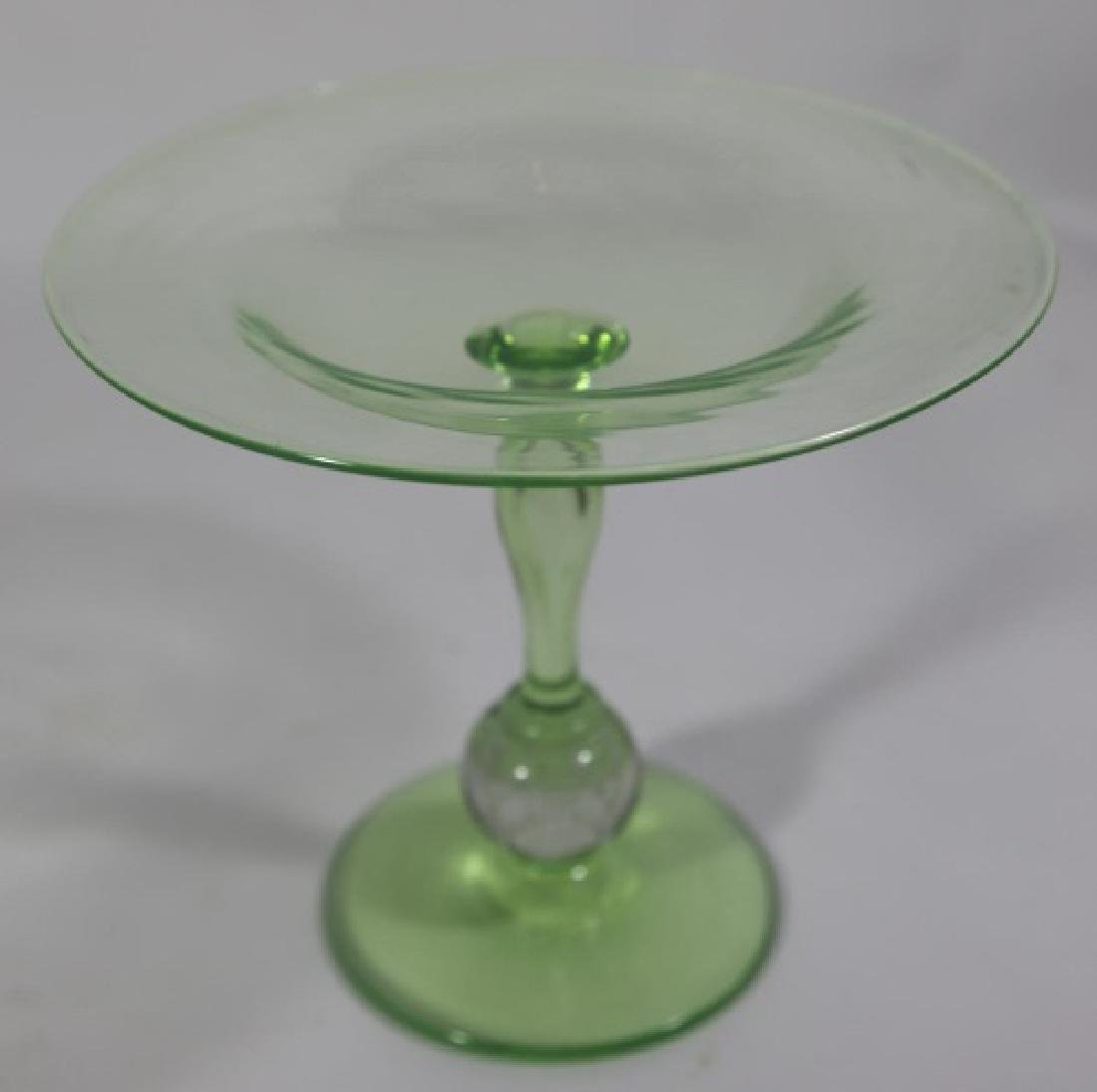 PAIRPOINT ARTGLASS EMERALD CONTROLLED COMPOTE