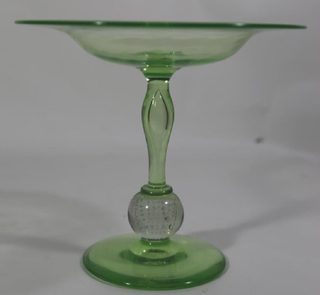 PAIRPOINT ARTGLASS EMERALD CONTROLLED COMPOTE - 2