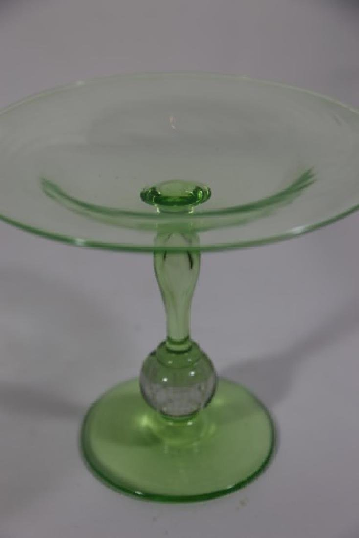 PAIRPOINT ARTGLASS EMERALD CONTROLLED COMPOTE - 4