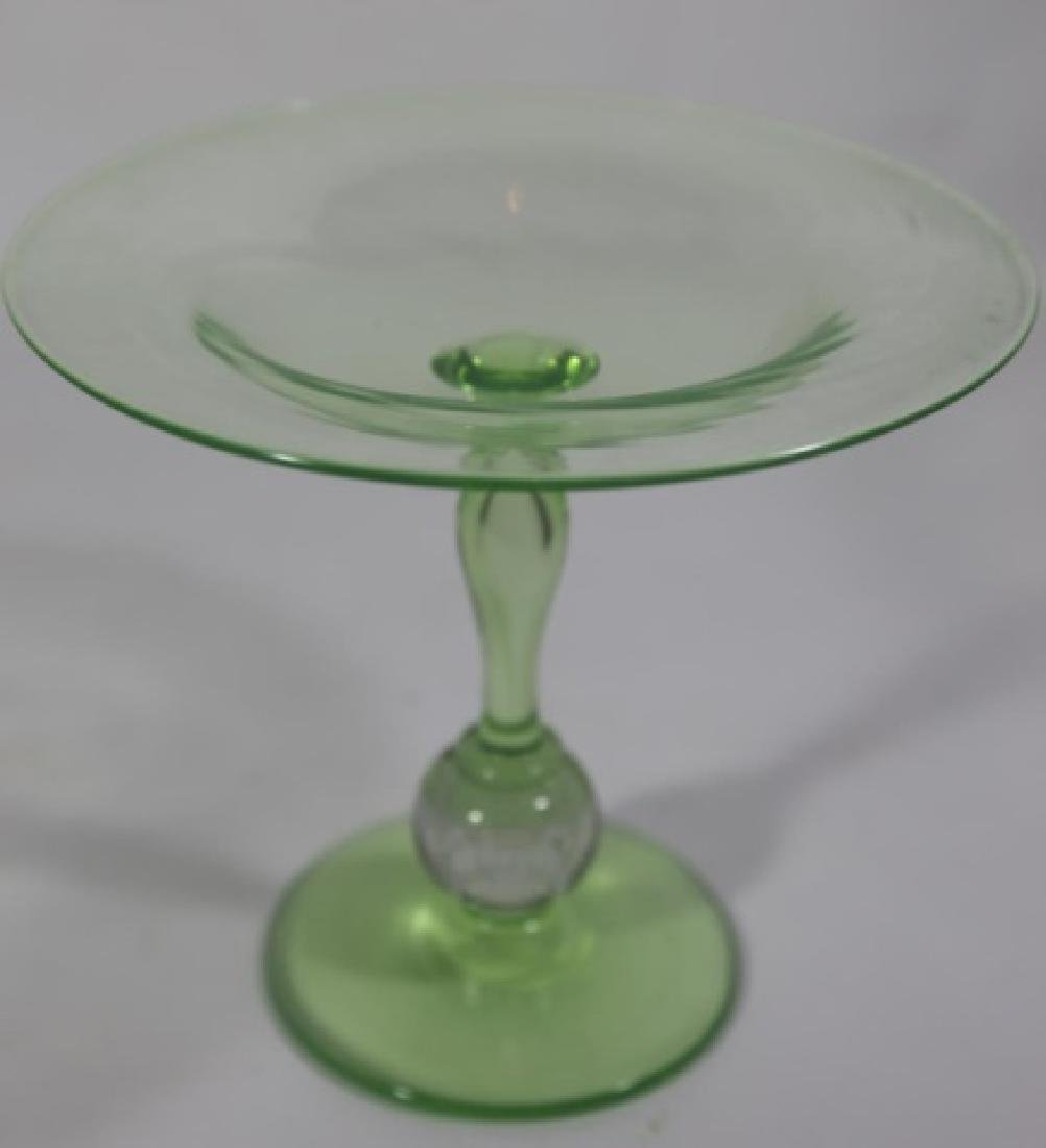 PAIRPOINT ARTGLASS EMERALD CONTROLLED COMPOTE - 5