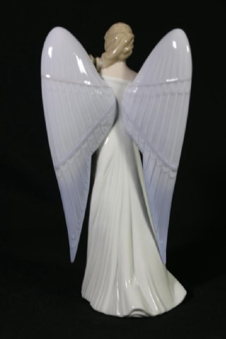 "LLADRO ""ANGEL WITH MANDOLIN""  PORCELAIN SCULPTURE - 4"