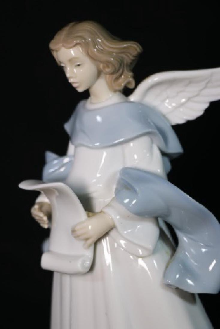 "LLADRO ""ANGEL WITH SCROLL""  PORCELAIN SCULPTURE - 2"