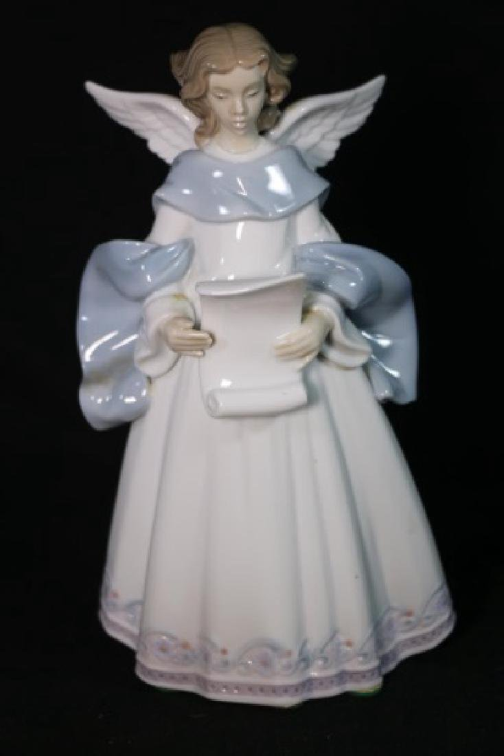 "LLADRO ""ANGEL WITH SCROLL""  PORCELAIN SCULPTURE - 6"