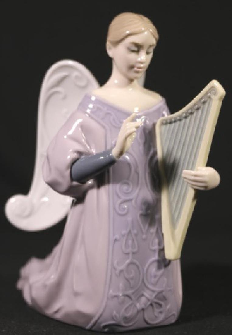 "LLADRO ""ANGEL WITH HARP""  PORCELAIN SCULPTURE"