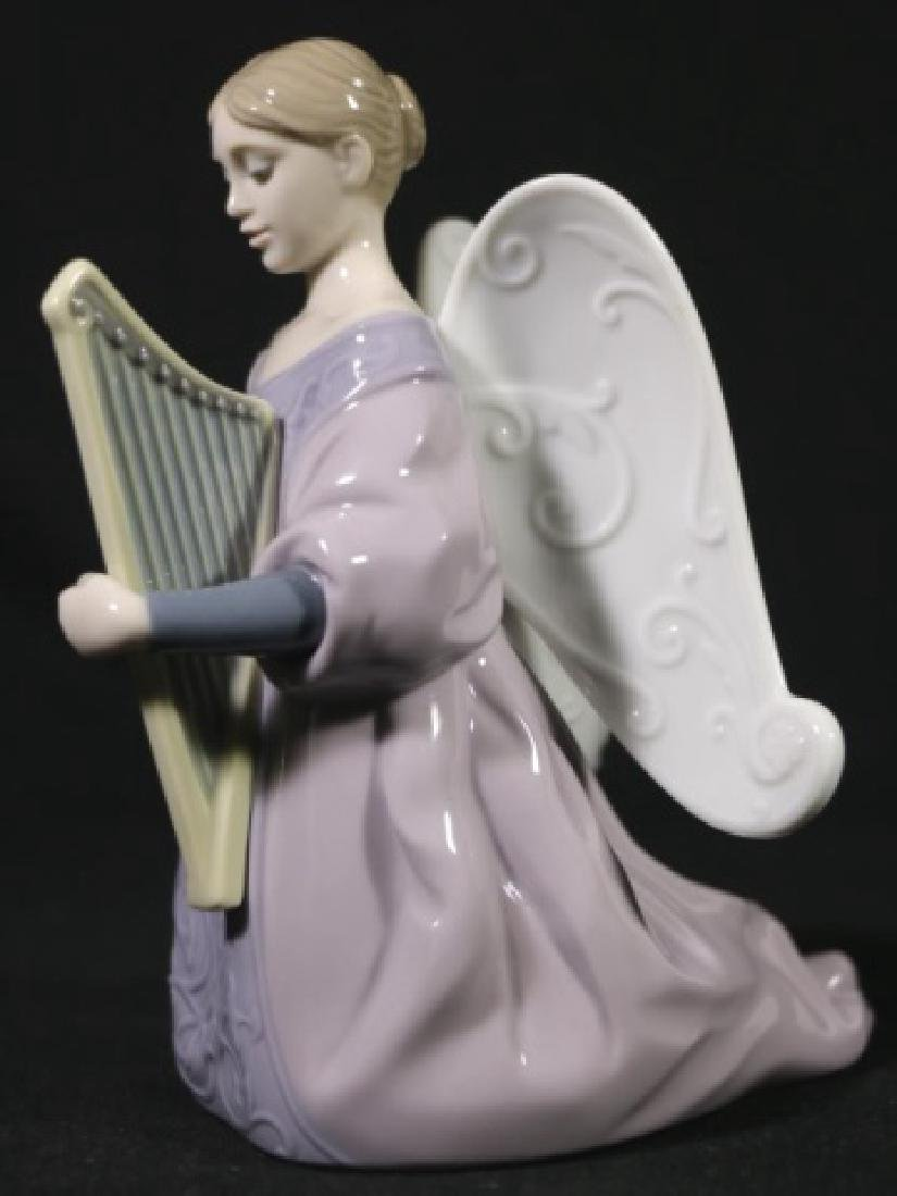 "LLADRO ""ANGEL WITH HARP""  PORCELAIN SCULPTURE - 2"