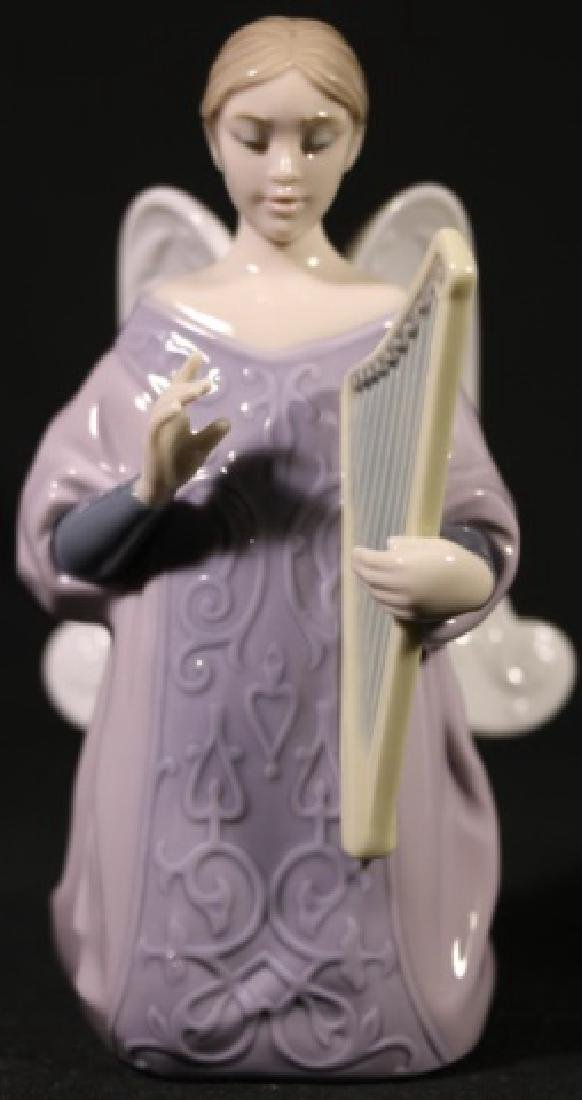 "LLADRO ""ANGEL WITH HARP""  PORCELAIN SCULPTURE - 7"