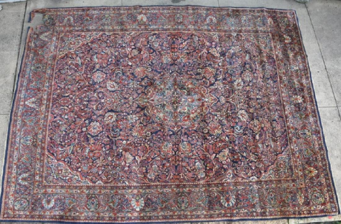PERSIAN SAROUK HAND WOVEN ROOM SIZE RUG - 9
