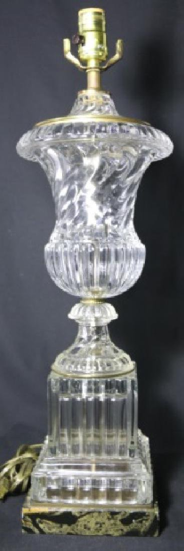 BACCARAT STYLE FINE GLASS CLASSICAL URN LAMP