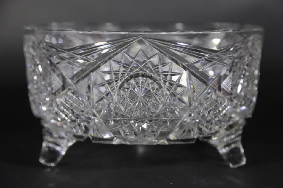 J. HOARE BRILLIANT PERIOD CUT GLASS FOOTED BOWL