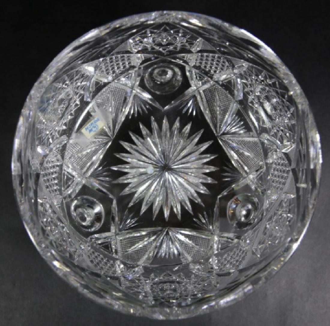 J. HOARE BRILLIANT PERIOD CUT GLASS FOOTED BOWL - 4