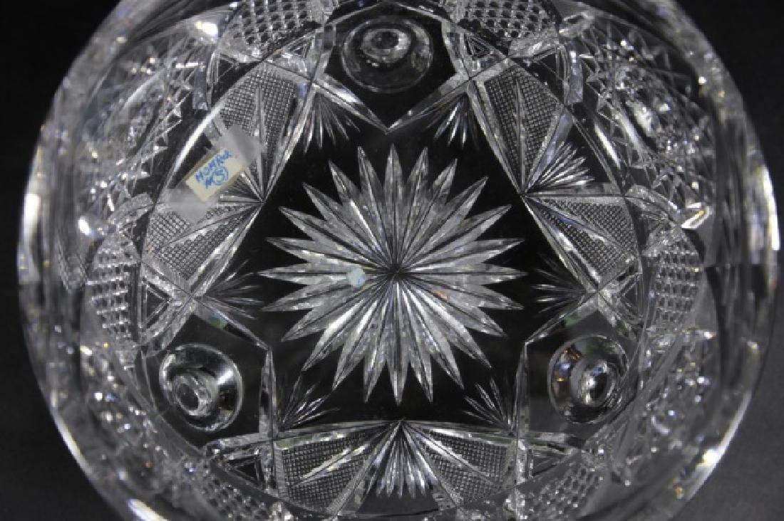 J. HOARE BRILLIANT PERIOD CUT GLASS FOOTED BOWL - 5